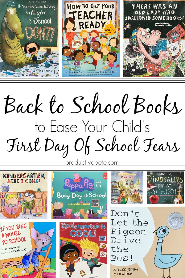 Back to School Books to Calm your Child's First Day Fears