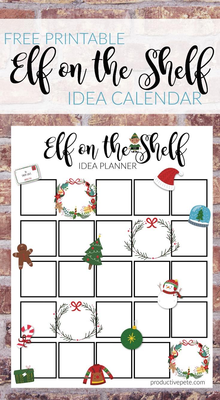 photo regarding Free Printable Elf Pattern identify Printable Elf upon the Shelf Calendar - Thriving Pete